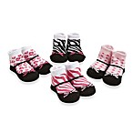 Cutie Pie® 4-Pack Zebra Animal Print Sock Set