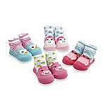 Cutie Pie® 4-Pack Animal Print Character Sock Set in Pink/Blue