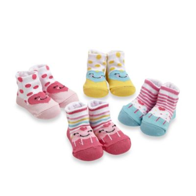 Cutie Pie® 4-Pack Heart/Cupcake Character Sock Set