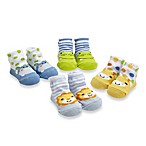 Cutie Pie® 4-Pack Animal Print Character Sock Set in Blue/Green
