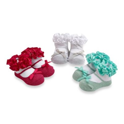 Cutie Pie® 3-Pack Ruffle Bow Sock Set