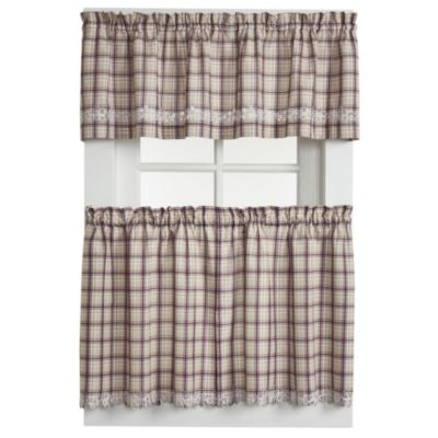 Dover Window Curtain Tier Pairs in Burgundy