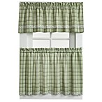 Dover Window Curtain Tier Pairs and Valance in Green