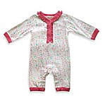 Absorba® Girl's All-Over Print Coverall in White/Pink