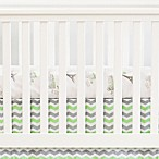 Oliver B Chevron Flat Panel Crib Skirt