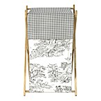 Sweet Jojo Designs French Toile Laundry Hamper in Black/Cream