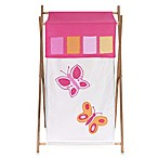 Sweet Jojo Designs Pink and Orange Butterfly Laundry Hamper