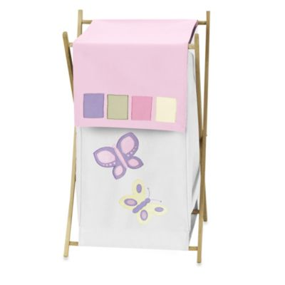 Sweet Jojo Designs Butterfly Laundry Hamper in Pink/Purple