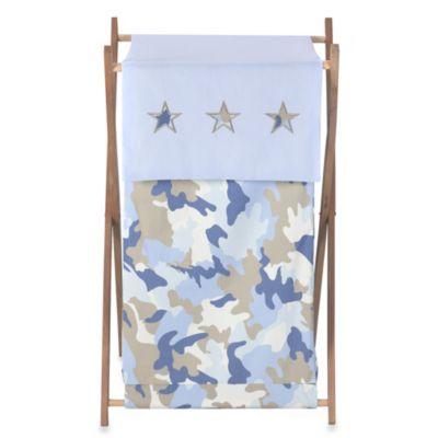 Sweet Jojo Designs Camo Laundry Hamper in Blue