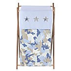 Sweet Jojo Designs Blue Camo Laundry Hamper