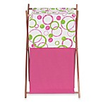 Sweet Jojo Designs Mod Circles Laundry Hamper in Pink and Green