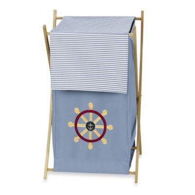 Sweet Jojo Designs Come Sail Away Laundry Hamper in Blue