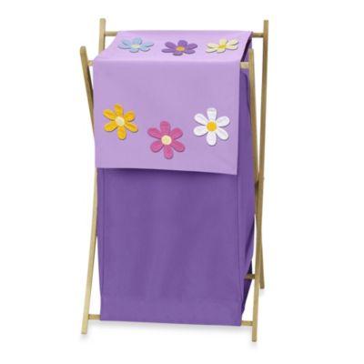 Sweet Jojo Designs Danielle's Daisies Laundry Hamper in Purple
