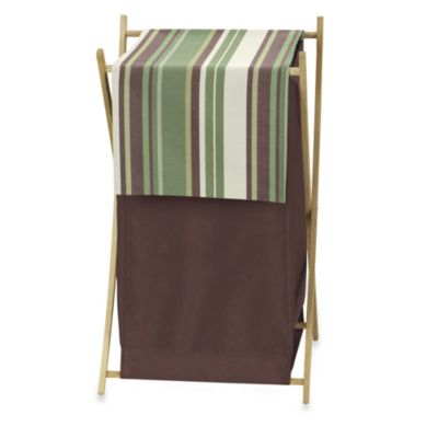 Sweet Jojo Designs Ethan Laundry Hamper in Green/Brown