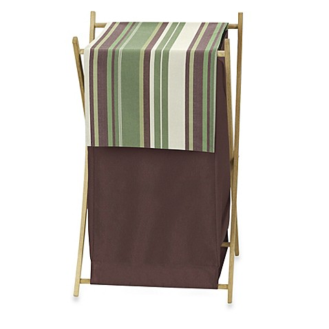 Buy Sweet Jojo Designs Ethan Laundry Hamper In Green Brown