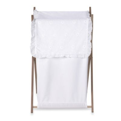 Sweet Jojo Designs Eyelet Laundry Hamper in White