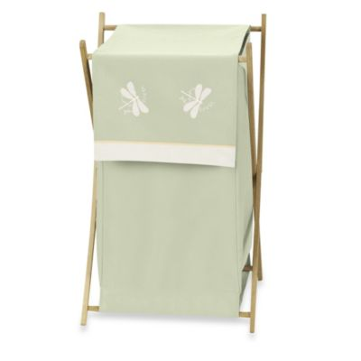 Sweet Jojo Designs Dragonfly Dreams Laundry Hamper in Green
