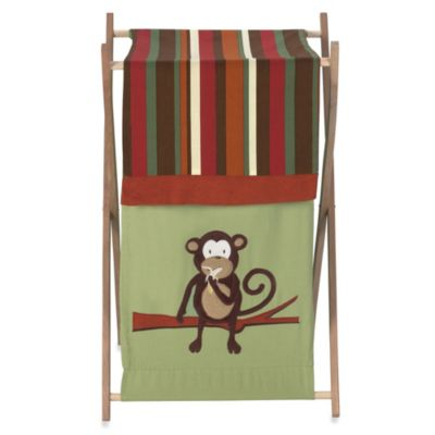 Sweet Jojo Designs Monkey Laundry Hamper