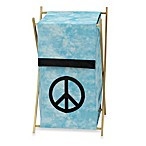 Sweet Jojo Designs Peace Out Laundry Hamper in Blue
