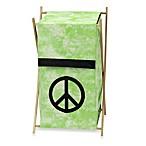 Sweet Jojo Designs Peace Out Laundry Hamper in Green