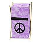 Sweet Jojo Designs Peace Out Laundry Hamper in Purple