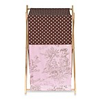 Sweet Jojo Designs French Toile and Polka Dot Laundry Hamper in Pink/Brown