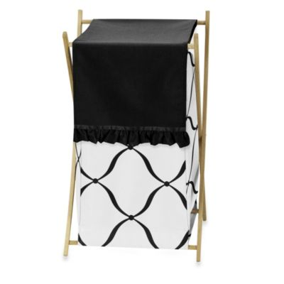 Sweet Jojo Designs Princess Laundry Hamper in Black/White