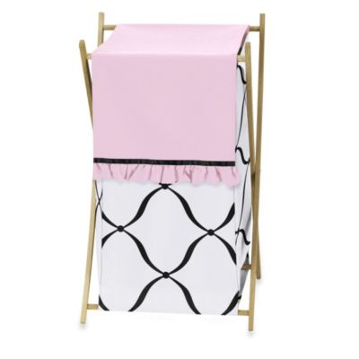 Sweet Jojo Designs Princess Laundry Hamper in Black/White/Pink