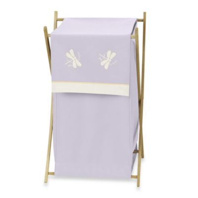 Sweet Jojo Designs Dragonfly Dreams Laundry Hamper in Purple