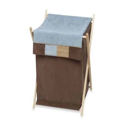 Sweet Jojo Designs Soho Laundry Hamper in Blue and Brown