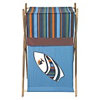 Sweet Jojo Designs Surf Laundry Hamper in Blue/Brown