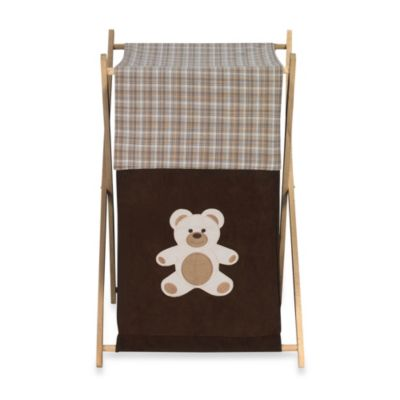 Sweet Jojo Designs Teddy Bear Laundry Hamper in Chocolate