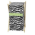 Sweet Jojo Designs Funky Zebra Laundry Hamper in Lime