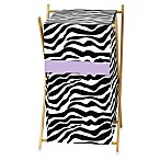 Sweet Jojo Designs Funky Zebra Laundry Hamper in Purple