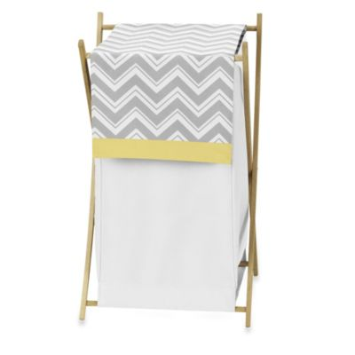 Sweet Jojo Designs Zig Zag Laundry Hamper in Grey/Yellow