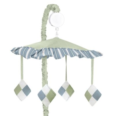 Sweet Jojo Designs Argyle Musical Mobile in Blue/Green