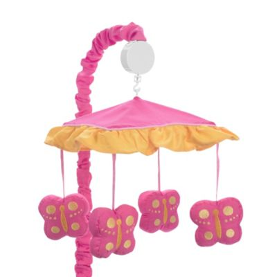 Sweet Jojo Designs Pink and Orange Butterfly Musical Mobile