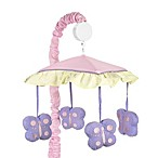 Sweet Jojo Designs Butterfly Musical Mobile in Pink/Purple