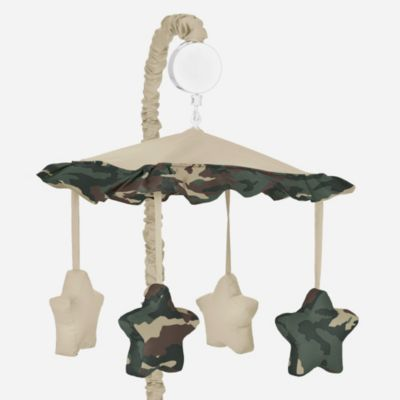 Sweet Jojo Designs Camo Musical Mobile in Green