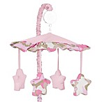 Sweet Jojo Designs Camo Crib Musical Mobile in Pink/Khaki