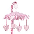 Sweet Jojo Designs Pink Chenille and Satin Musical Mobile