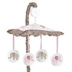 Sweet Jojo Designs Mod Elephant Musical Mobile in Pink/Taupe