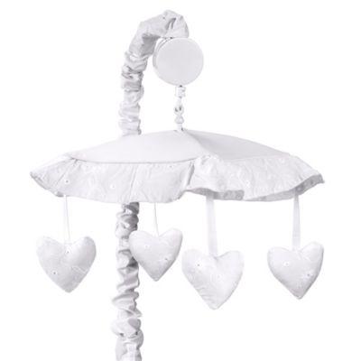 Sweet Jojo Designs Eyelet Musical Mobile in White