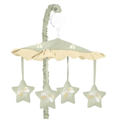 Sweet Jojo Designs Dragonfly Dreams Musical Mobile in Green