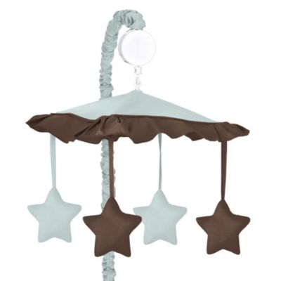 Sweet Jojo Designs Hotel Musical Mobile in Sky Blue/Chocolate Brown