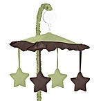 Sweet Jojo Designs Hotel Musical Mobile in Green/Chocolate Brown