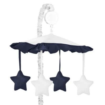Sweet Jojo Designs Hotel Musical Mobile in White/Navy