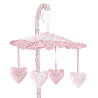 Sweet Jojo Designs Pink French Toile Collection Musical Mobile