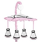 Sweet Jojo Designs Princess Musical Mobile in Black/White/Pink