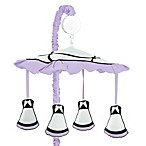 Sweet Jojo Designs Princess Musical Mobile in Black/White/Purple